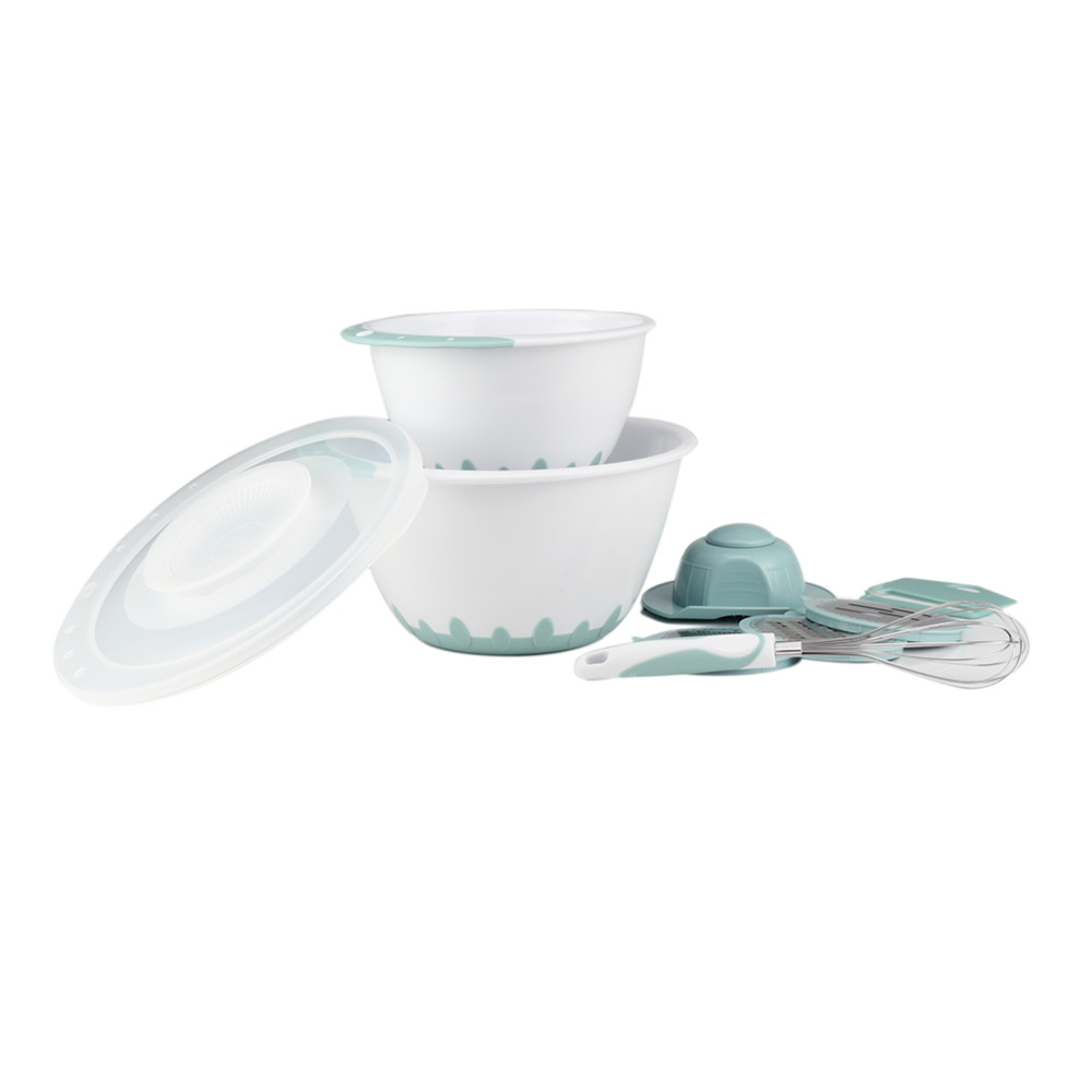 Wholesale Plastic Mixing Bowl With Grater And Egg Whisk Set