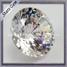 Cortar brillante corte de estrella de facetas blancas de alta calidad