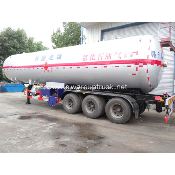 65000 liters capacity fuel tank truck semi trailer