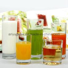 Taza de té claro / Copa de vidrio de jugo de vidrio / taza de cerveza de vidrio al por mayor