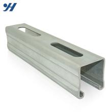 Processo profissional Galvanizado Canal De Aço Perfil c tipo canal de aço, canal de ferro preços, canal perfurado