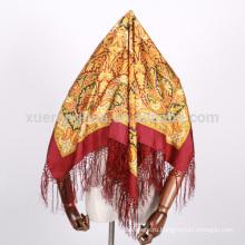 Индия и Турция стиль цифровой печатной площади шелковые шарфы