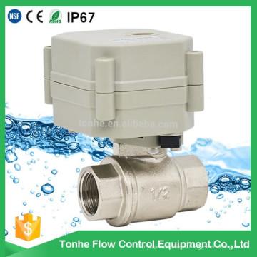 2 Way Dn15 никелированный латунный моторный электрический водяной шаровой кран