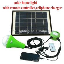 Iluminación del hogar solar recargable CE; luces solares interior; kits de iluminación solar de decoración