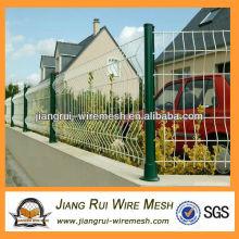 Белый ПВХ покрытием сада сетка забор (Китай производитель)
