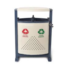 Uso exterior Cubo de basura de acero inoxidable (A19400)