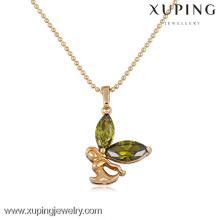 30961 xuping agate stone color stone saudi arabian gold plated pendant sets