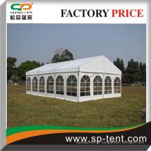 Tente de fête de mariage en PVC avec des fenêtres transparentes ou un plancher