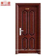 Anti-Diebstahl Einblatt Eisen Stahl Metall Tür Warmgewalzte Stahl / verzinktem Stahl Eingangstür