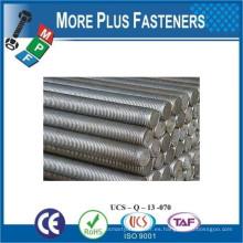 Hecho en Taiwán DIN 975 Grado Clase 8 8 Material Acero Revestimiento Acabado Liso