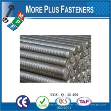 Made In Taiwan DIN 975 Grade Class 8 8 Material Steel Coating Plain Finish