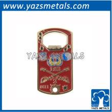 custom beer bottle opener, customized personalized beer bottle opener with red soft enamel