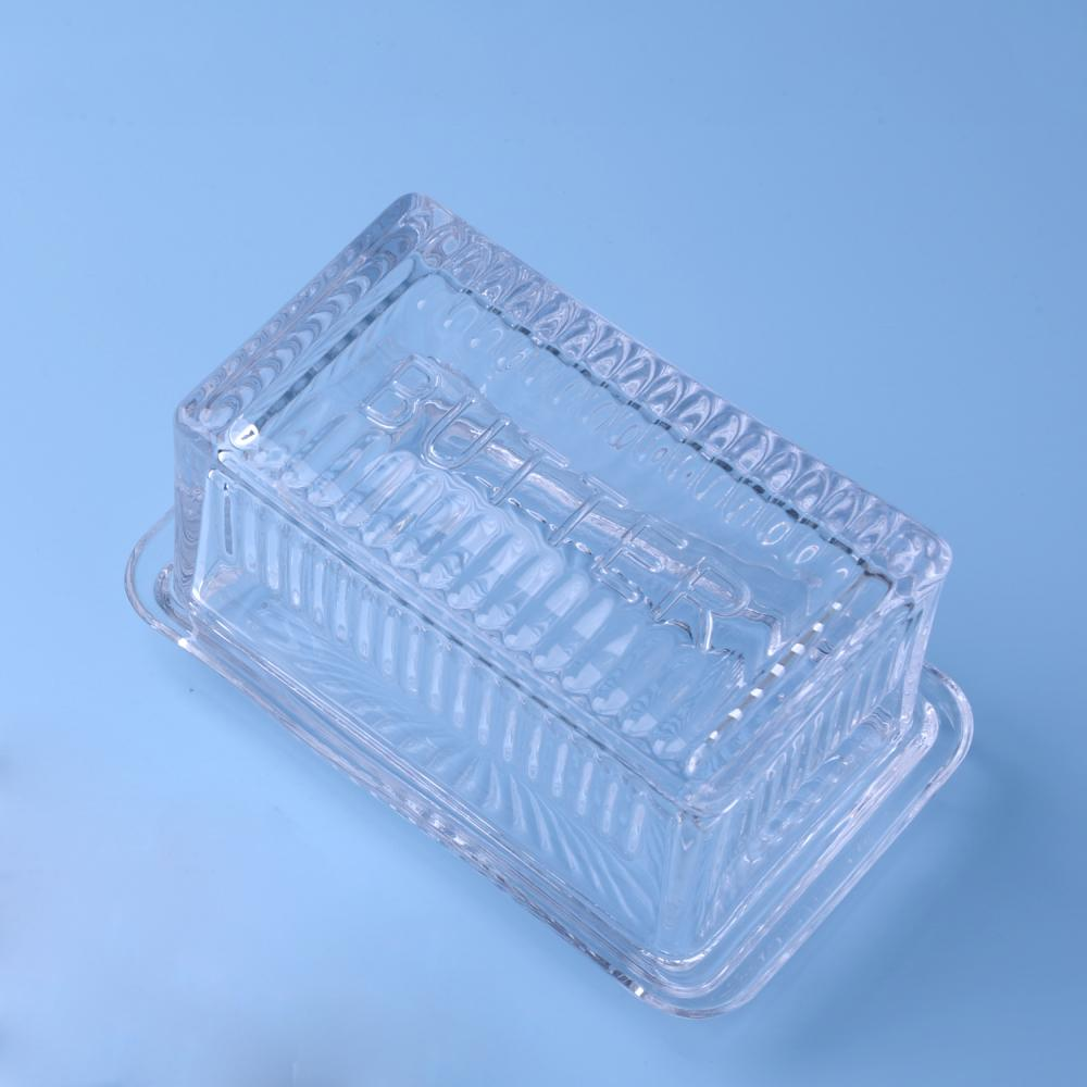 Br 1042 Wholesale Clear Glass Butter Dish With Lid Cover 2