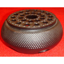 High Quality Embossed Cast Iron Warmer BSCI LFGB FDA Approved