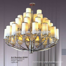 European Chrome Wrought Iron Candle Chandelier Lighting