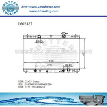 Radiator For TOYOTA CAMRY 02-03 Aluminum 164000H030/1640028280 Manufacturer and Direct Sale