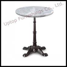 Vintage Iron Base White Marble Dining Table (SP-RT458)