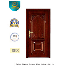 Classic Style Armoured Security Door with Carving (b-6008)