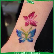2015 getbetterlife arte corporal reutilizáveis Glitter tattoo estêncil/glitter tatuagem glitter de estênceis/atacado