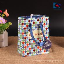 sacos de compras feitos sob encomenda do papel da roupa kraft branco com punho torcido
