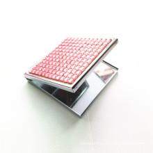 Miroir de poche cosmétique carré (BOX-12)