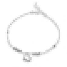 Damenmode Einfache 925 Sterling Silber Herzförmige Fußkettchen