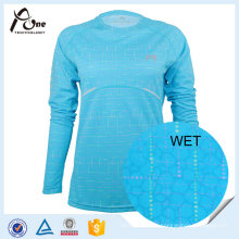 Long Sleeve Shirts 100 Polyester Running Wear for Women