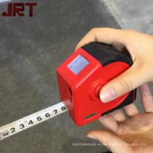 cinta de línea láser que mide cinta métrica personalizada 2 en 1 con láser