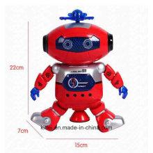 Musik Tanzen blinkt intelligente Kinder Baby Spaceman Kunststoff Roboter Spielzeug