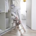 Escalera doméstica de plástico Escalera plegable