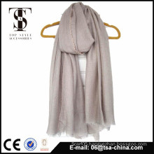 High quality in very soft feel brown color dye oversize scarf