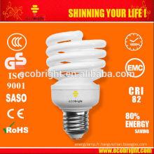 Nouveau! T2, Moitié plein spirale lampe 20W 10000 H CE qualité