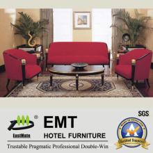 Nuevo sofá del hotel del diseño fijado (EMT-SF06)