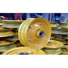 Borde de rueda de goma de acero amarillo de 16 pulgadas