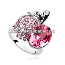 Vente en gros d'anneaux de mariage rubis coûteux pour la mariée