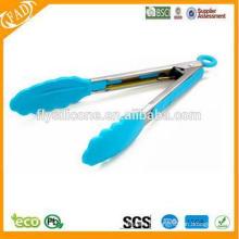 Aço inoxidável alça de silicone cozinhar cozinha tongs e utensílios de cozinha
