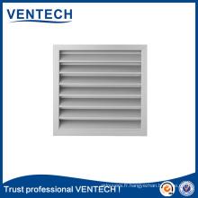 Ventilation des systèmes HVAC Grille de protection contre les intempéries en aluminium