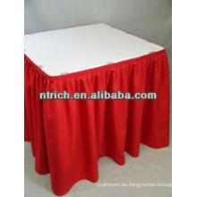 Elegante banquete plisado falda para mesa