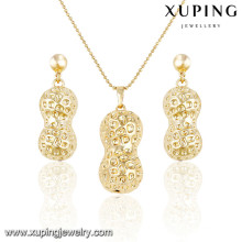 63884 Xuping simple design fancy gold plated sets
