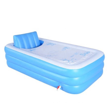 king size inflatable SPA bathtub with L shape cushion