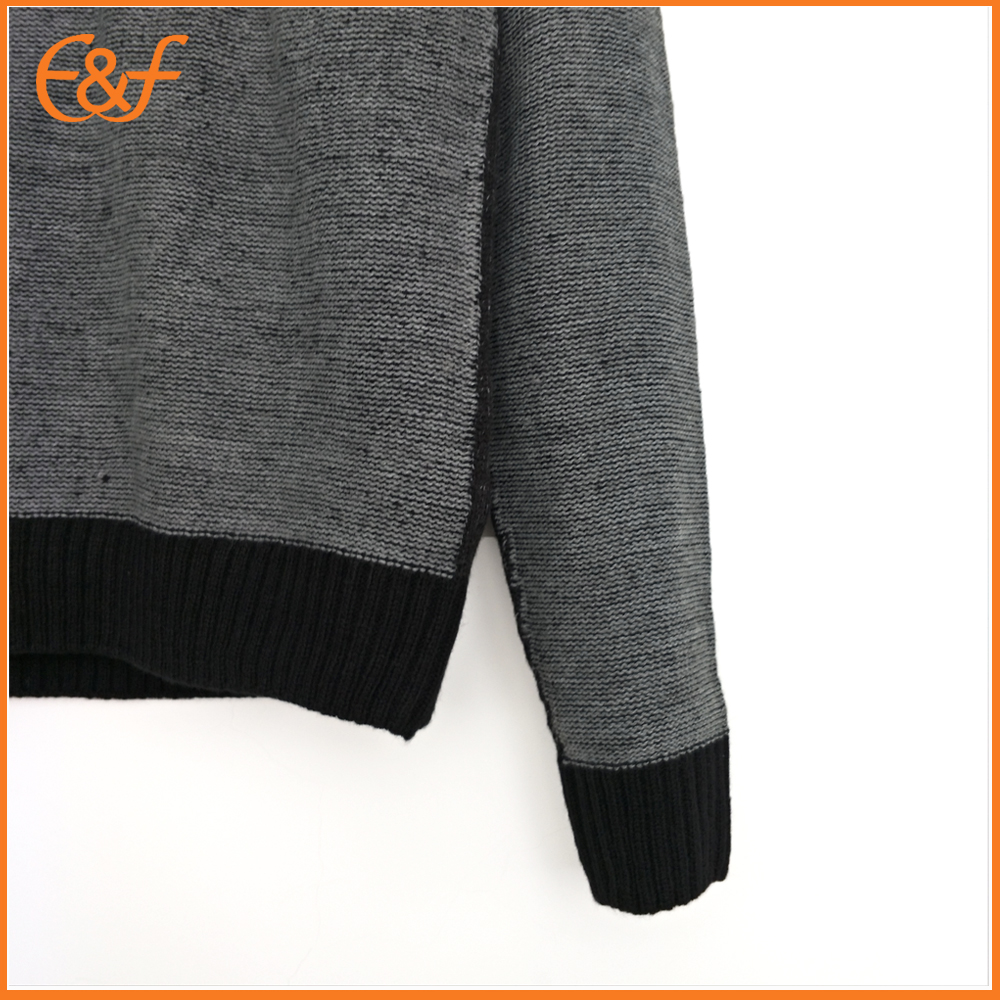 Fitted sweater for men