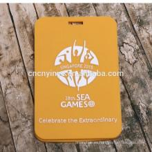 Suave del pvc promocionales nombre equipaje etiquetas personalizadas