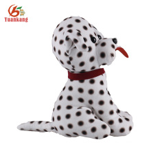 Black and white spotty plush dog& plush doggy toy