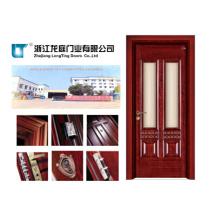 Porte en bois entrée intérieure avec verre (LTS-407)