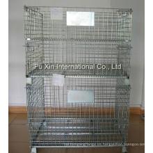 Jaula plegable de almacenamiento de alambre de acero