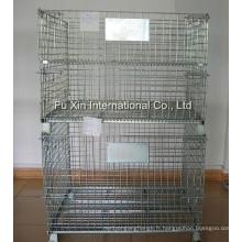 Cage pliante de stockage de fil d'acier