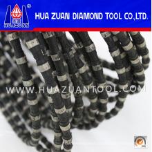Serra de fio de diamante com revestimento de borracha preta para pedreira em promoção