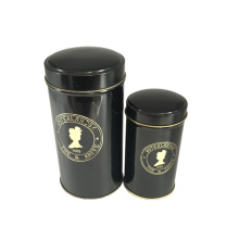Boîte en étain de thé Emballage couleur noire Pritning Wholesale