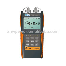 Ensemble de test de perte optique FHM2B02, compteur de puissance de fibre et source laser, multimètre optique avec menu anglais