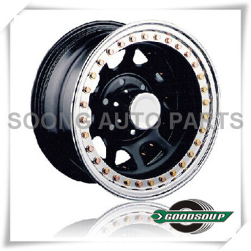 "Daytona-Beadlock Wheels GS-20105 Steel Wheel from 15"" to 17"" with different PCD, Offset and Vent hole"